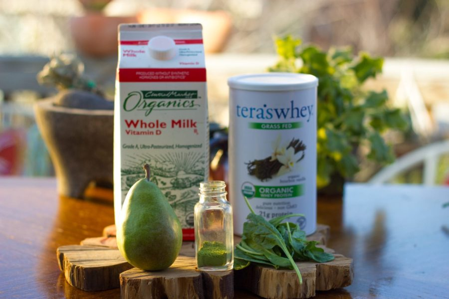 Matcha Pear Green Smoothie Reciope